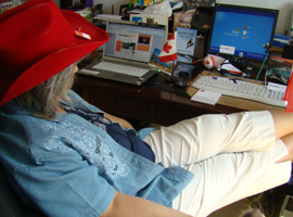 Leslie at the office