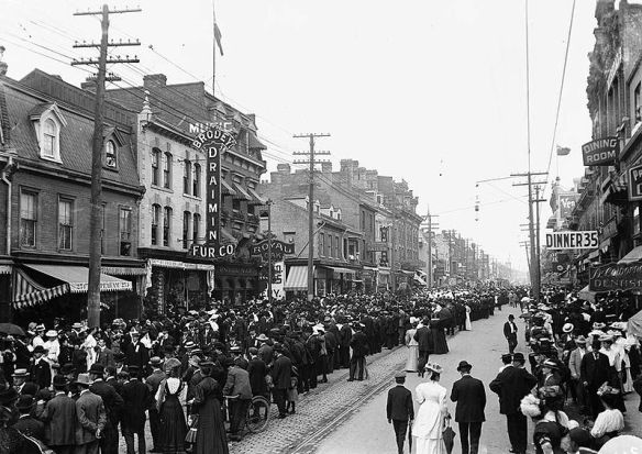 Photo credit: Wikimedia Commons, Labour Day Parade, Toronto c1900s