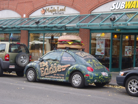 Photo credit: Annie Zalezsak, Eddie's burger car, Banff