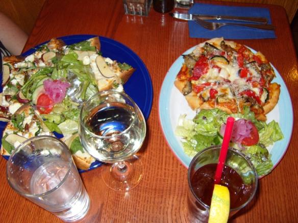 Photo credit: Annie Zalezsak, pizzas at Coyote's Deli and Grill, Banff