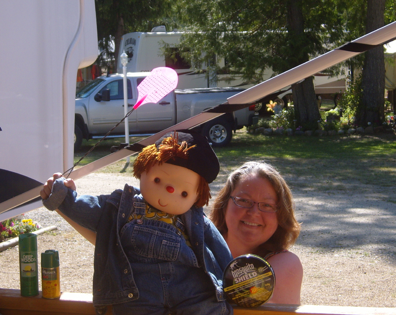 Buddy Canuck and Annie Zalezsak