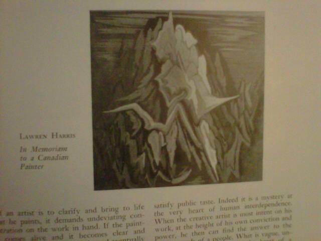1952 Lawren Harris - Canadian Art Magazine - Odette Nicholson
