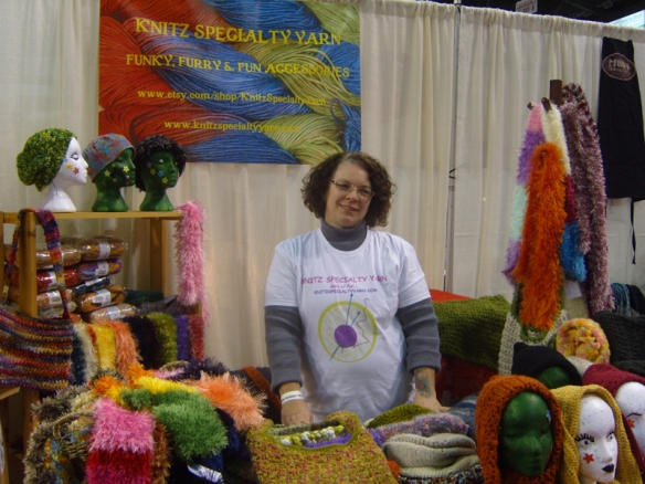 Karren Ferreira of Knitz Specialty Yarn at the Kelowna Christmas Show, November 23, 2013