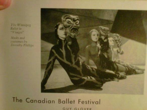 Winnipeg Ballet in Visages, 1949 Canadian Art Magazine - Odette Nicholson