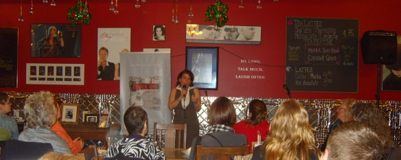 Author Jo Dibblee speaks at the Holistic Chamber of Commerce Grand Opening