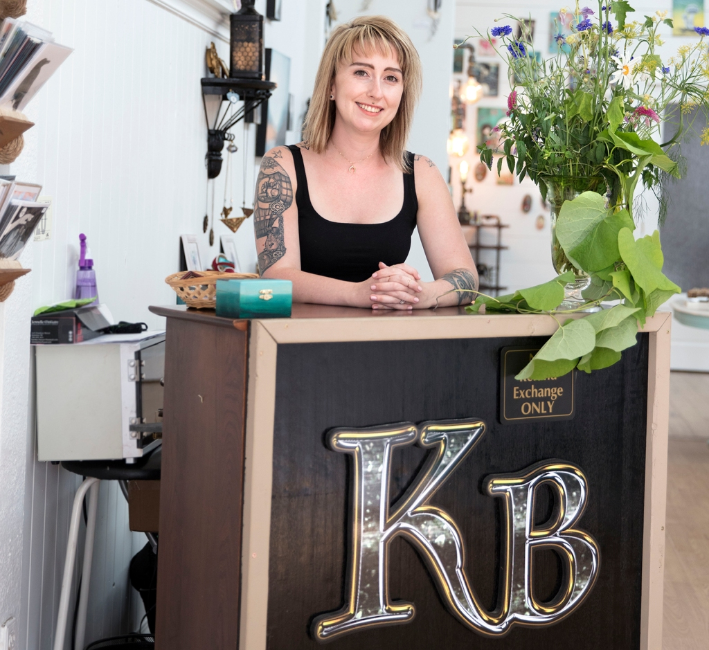 Jennelle McGuire, owner of Karmyc Bazaar