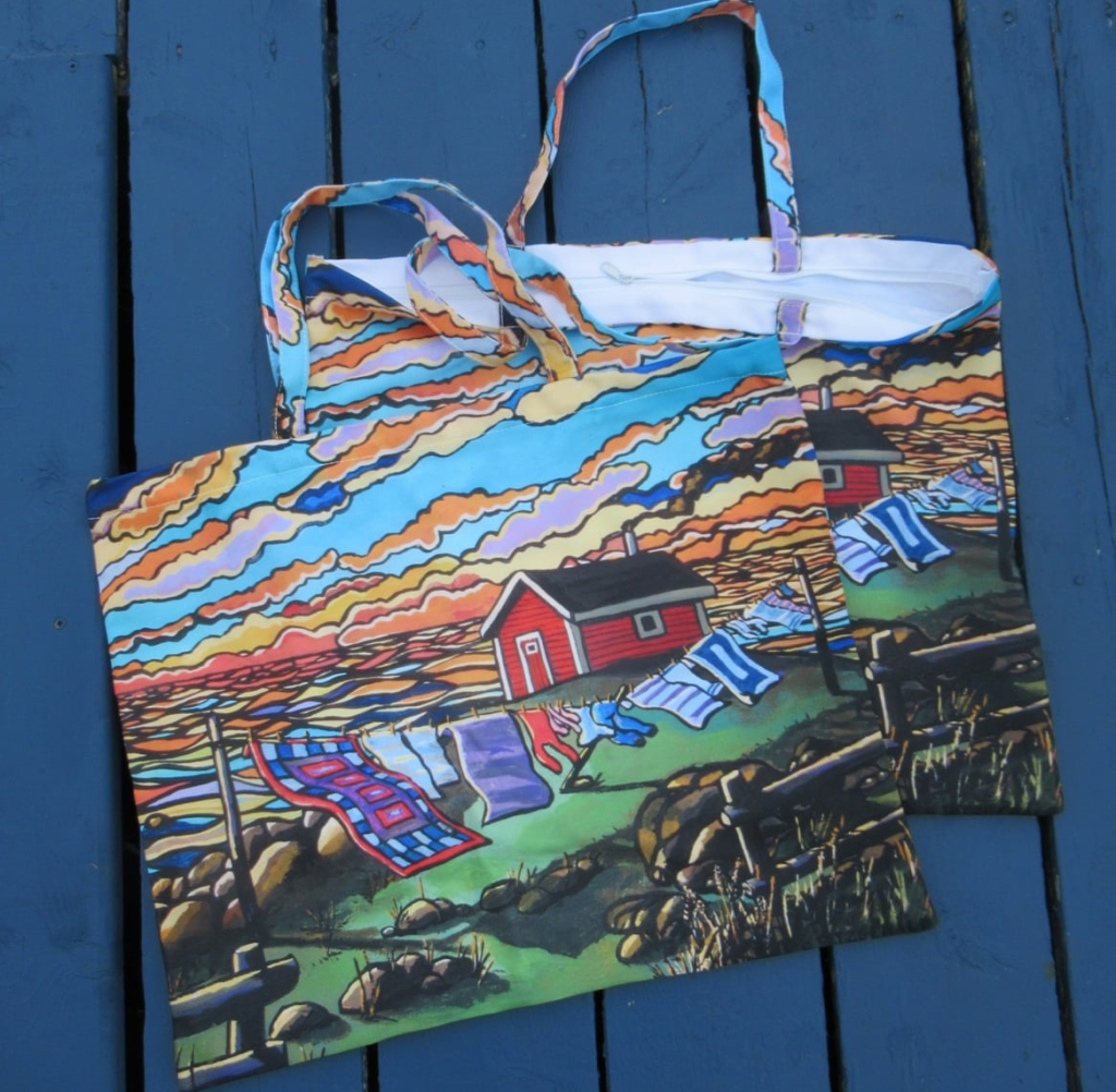 Soft Light (printed on canvas bags) by Reilly Fitzgerald
